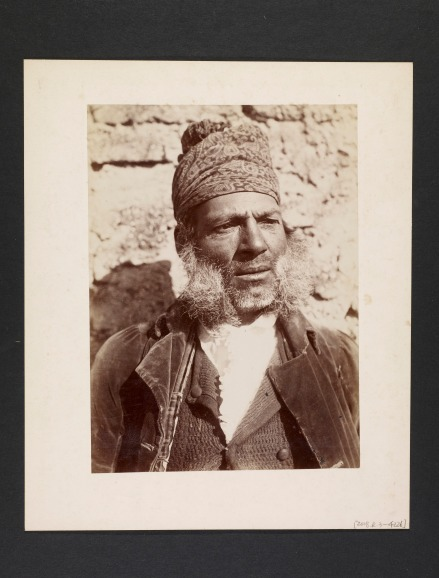 [Man wearing paisley headscarf] - Courtesy of Getty Research Institute