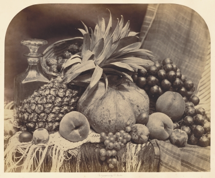 [Still Life With Fruit And Decanter] - Roger Fenton (1860)