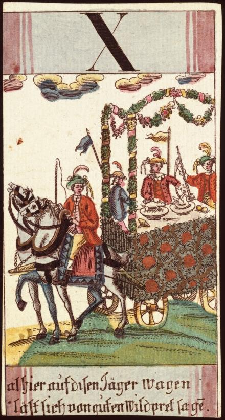 Alhier auf disen Jager Wasen last sich van guten Wildpret sagan (Andreas Benedictus Gobl, 1765-92)