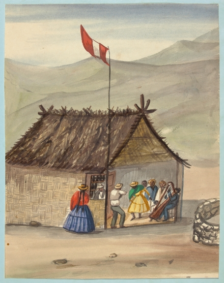 [A cane rancho or hut erected for the purpose of dancing[ (Fierro, Pancho)