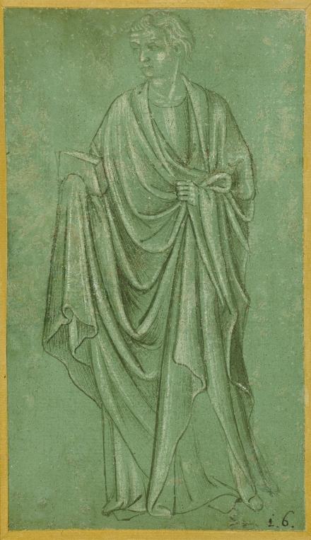 A Draped Figure Holding a Book