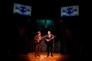 Matty Charles and Nicholas Mongiardo-Cooper in LONESOME TRAVELER at 59E59 Theaters. Photos by Carol Rosegg