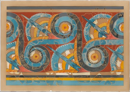 Reproduction of the Great S-spiral frieze fresco