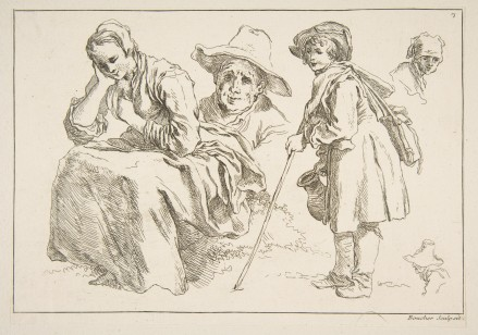 Sheet of Sketches (Boucher, Francois)