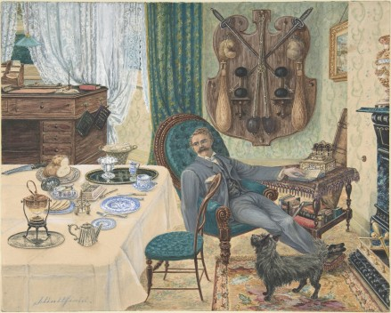 A Bachelor In His Study (The Sportsman's Breakfast) (J. Buttfield)