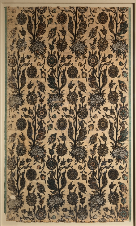 Velvet Panel with Flowering Plants