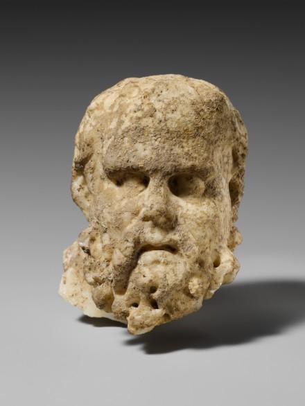Marble head of bearded man